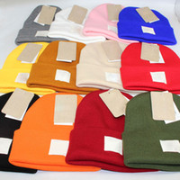 Wholesale yellow wool kids hats for sale - Group buy Winter Beanies Hats Knitted Warm Beanies Casual Hats Caps For Kids Men Women Colors Good Quality