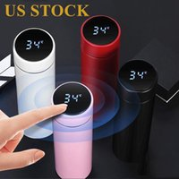 DHL Shipping Stock Smart Mug Temperature Display Vacuum Stainless Steel Water Bottle LED Temperature Display Screen Thermo Cup FY4122