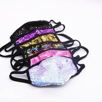 Wholesale Cross border source sequin bling mask sunscreen ice silk colored diamonds fashion sunscreen dustproof breathable cotton cloth washable