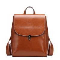 Wholesale large backpack korean resale online - ABER New Small Bagckpack Korean Fashion Genuine Leather Large Capacity Women Backpacks Colors Leisure Travel Bag