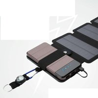 Wholesale solar charging battery bank for sale – best 10W sunpower solar charger Direct charge Battery Folded Solar panels Power Bank Removable Solar Charger Case for Electronic products