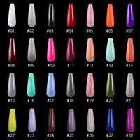 Wholesale acrylic nail shapes for sale - Group buy 500pcs Long Ballerina Full Nail Tips Acrylic Press on Fake Nails Coffin Shape Professional False Nails DIY Salon Tools