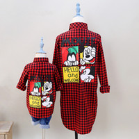 Wholesale mommy me shirts for sale - Group buy Dulce Amor Family Matching Clothes Autumn Mother Daughter Son Outfits Fall Fashion Mommy And Me Red Plaid Shirt Family Look Y200713