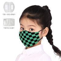 Wholesale ghost mask toys resale online - Children s non disposable washable dust proof PM2 filter cloth mask ghost killing blade