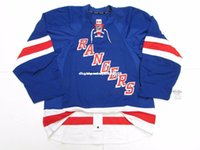 Wholesale size 58 jerseys resale online - Cheap custom NEW YORK RANGERS HOME TEAM ISSUED EDGE JERSEY SIZE stitch add any number any name Mens Hockey Jersey XS XL