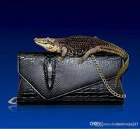 Wholesale gold hand clutch for sale - Group buy Designer Luxury Handbag Wallet The New Fashion Bags Clutch Bags Crocodile Leather Clutch Bag Lady Shoulder Diagonal Hand Bag Female Evening