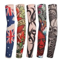 Wholesale tatoo fishing for sale - Group buy 10pcs Cycling Bike Bicycle Cuff Sleeve Cover UV Sun Protection Fishing Running Nylon Tatoo Arm Warmers Sleeves For Men Women
