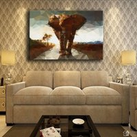 Wholesale elephant picture home decor for sale - Group buy Canvas Pictures Home Decor Piece Elephant Mosaic Backgrounds Painting Prints Artistic Abstract Animal Poster Hotel Wall Art