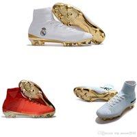 Wholesale ronaldo soccer boots hypervenom resale online - Original New Mercurial Superfly V FG CR7 Ronaldo Soccer Cleats High Ankle Neymar JR Soccer Shoes Magista Obra Hypervenom Football Boots