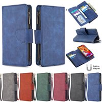 Wholesale iphone plus case wallet zipper for sale – best BF Magnetic Zipper Flip Detachable Leather Wallet Case For iPhone Pro Max XR XS X SE Samsung S9 S10 Plus S20 Ultra Note