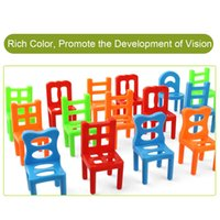 Wholesale balancing game for sale - Group buy 18Pcs Balancing Chairs Set Assorted Stacking Chairs Game Kids Party Favor Stacking Toys