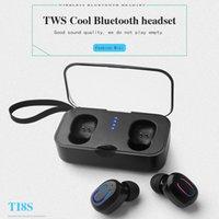 Wholesale best universal earbuds online – Best TI8S Bluetooth Earphones TWS Wireless Headphones Bluetooth Earphone Handsfree Headphone Sports Earbuds Headset vs i9s i12 tws