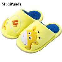 Wholesale shoes for children cartoon for sale - Group buy MudiPanda Baby Animal Slippers For Girls Autumn Winter Children Boys Non Slip Lightweight Indoor Home Cotton Shoes Cartoon