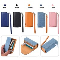 Wholesale electronic modern resale online - New Electronic Protective Case Cover Holder Carrying Storage Box Lanyard Leather Case Portable Electronic Cigarette Case VT1408