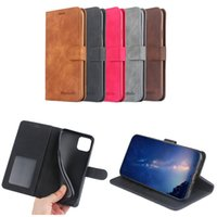 Wholesale class wallets resale online - High Class PU Leather Wallet Case Flip Cover with Button for iPhone X with Card Slot Stand Case Samsung HUAWEI Colors Optional