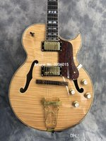 Wholesale semi hollow body guitars for sale for sale - Group buy 2019 new jazz electric guitar fixed board drawstring and gold accessories semi hollow body top guitar factory custom direct sales