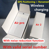 Wholesale in earbuds bluetooth online – Noise reduction transparent mode Air H1 Chip Rename GPS Wireless Charging Bluetooth Headphones Pods Pro AP2 AP3 Earbuds nd Generation