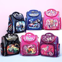Wholesale shape backpacks for sale - Group buy 8KAyf Russian girl printed schoolbag for primary school students waterproof folding shaped Bag backpack backpack for children from grade