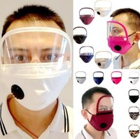 Wholesale 2 in Face Shield Zipper Removable Adjustable Protective Mask Anti Dust Washable Reusable Mask With Clear Window Visible Eye Shield OOA8259