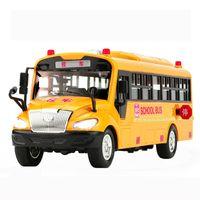 Big Size Inertial School Bus Vehicle Model Lighting Music Cars Toys For Children Boy Kids Gift