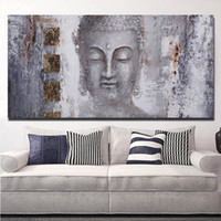 Wholesale buddha paintings for living room for sale - Group buy Canvas Painting Wall Posters and Prints Modern Buddha Wall Art Pictures For Living Room Decoration Dining Restaurant Hotel Home Decor