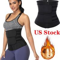 UPS Free Shipping Waist Tummy Shaper Belt Neoprene Fabric Waist Trainer Double Straps Cincher Corset Fitness Sweat Bands Girdle FY8084