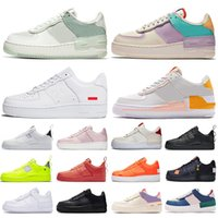ingrosso classiche scarpe sportive nere bianche-supreme nike air force 1 shadow force one shoes af1 Pistachio Frost uomo donna scarpe casual con piattaforma Tropical Twist Spruce Aura triple bianco sneakers sportive sneakers
