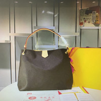 Wholesale leather handle tote for sale - Group buy M43704 M43703 GRACEFUL Handbags MM PM NEVER Mono Leather Fashion Classic Women Shoulder Bag Woman Single Handle Tote Shopping Bags