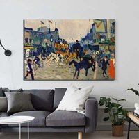 Wholesale street art painting frame resale online - Canvas Wall Art Vintage Style Home Decorative Street HD Printed Poster Andre Derain Painting Modern Modular Frame For Bedroom