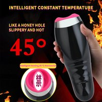Wholesale auto sex machines for sale - Group buy Auto Heating Sucking Male Masturbator Cup Smart Pulse Flashlight Vibrator vagina real pussy Sex Machine Blowjob Sex Toys For Man T200820