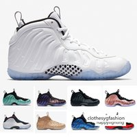 Wholesale fleece sneakers resale online - New White Ice CNY Floral Penny Hardaway Men Basketball Athletic Shoes Fleece Royal Eggplant Element Rose Trainers Sports Sneaker