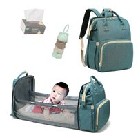 Wholesale baby bags for sleeping resale online - Portable Bassinet For Baby Foldable Baby Bed Bag Newborn Travel Indoor Bed Backpack Bed Breathable Infant Sleeping Basket CX200717