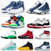 herren basketballschuhe größe 11 groihandel-2020 Flint 13s Nike Air Jordan Retro 12 Indigo Trainers 11 LOW WMNS CONCORD Island Lakers Chicago Tie Dye Fearless Gamma Blue Space Jam Herren Damen Basketball SchuheSneakers