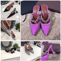 Wholesale product high resale online - Hot new products in fashionable and high quality all match sequined wineglass high heel pointed sandals sexy sandals