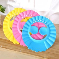 Wholesale kids hair washing hat resale online - 6 style Safe Shampoo Shower Bathing Bath Protect Soft Cap For Baby Wash Hair Shield Bebes Children Bathing Shower Cap Hat Kids LX2462