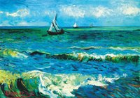 Wholesale large seascape paintings for sale - Group buy Seascape Van Gogh Large QUALITY Canvas Painting Home Decor Handpainted HD Print Oil Painting On Canvas Wall Art Canvas