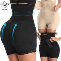 Wechery Women Big Ass Sexy Shapewear 4 Pads Fake Butt Waist Slimming Belt Control Panties Flat Belly Underwear Body Shaper Y200710
