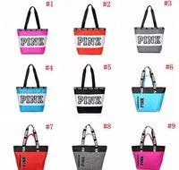 Wholesale phones storage for sale - Group buy 9 Colors Pink Duffel Bags Canvas Secret Storage Bag Unisex Travel Bag Waterproof Victoria Casual Beach Exercise Luggage Bags CCA6912