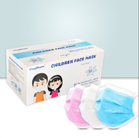 Wholesale DHL Disposable Kids Masks Protection Personal Health Mask Layer Children Reusable Face Cover Earloop Mouth Sanitary Masks