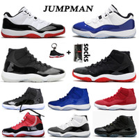 ingrosso basketball shoes 11 retro low-scarpe da basket air jordan retro 11 aj 11s XI 25th Anniversary low Concord Bred HIGH Space Jam Cap and Gown Gamma Blue Jumpman 23 uomini donne Sneakers Trainers