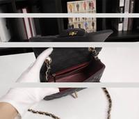 Wholesale hot pockets for sale - Group buy Hot selling1116 Fashion Genuine Leather Shoulder Bag six colours Diamond Lattice Quilted Flap Bag cm Caviar cowhide Chain Handbag