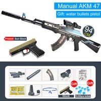 Wholesale boys weapon toys resale online - Children s simulation assault hand rifle military toy AK47 water bullet shooting boy outdoor toy air soft sniper weapon air gun gift