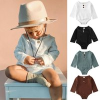Wholesale linen sets baby girl for sale - Group buy Baby Kids Boys Girls Infant Solid Romper Jumpsuit Bodysuit Cotton Linen Outfit Set Y