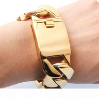 Wholesale mens turquoise bracelet resale online - 23cm inch or cm in Jewelry Large L Stainless steel jewelry Gold Miami cuban curb chain bracelet bangle Heavy Huge mm Mens