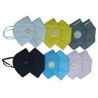 Wholesale DHL Fast Shipping Disposable ply Meltbrown Face Mask Dust Valve Mask With Breathing Valve With Respirator Black Gray White Blue Mask