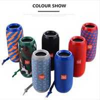 Wholesale TG117 Bluetooth Speakers Portable Speaker Double Horn mAh Outdoor Waterproof Subwoofers Wireless Speakers Support TF Card FM Radio