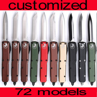 Wholesale fat baby for sale - Group buy 72 models CNC mini Fat baby VG10 blade HR Benchmade BM3300 UTX85 UT121 trumpt quot T6 aluminum handle camping automatic knife EDC tool
