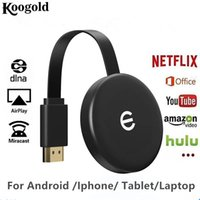 ingrosso bastone cromato-Display WIFI Miracast Koogold Goldencast3 Wireless HDMI Dongle ricevitore HD 1080P TV Stick Android IOS Lavora con Chrome Youtube Netflix Hulu