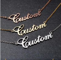 Wholesale nameplates necklaces for sale - Group buy Custom Name Necklaces Pendants Mom Sister Gifts Rose Gold Charms Personalized Nameplate Letter Necklace Collares Mujer Bff