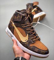 Wholesale retro basketball shoes x for sale - Group buy Off Whìte Lòuis Vuítton x Níke Air Jordán Retro Designers Sneakers Women Men s Chicago UNC Basketball Shoes Sports Shoes
